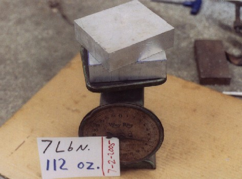 weighing blocks